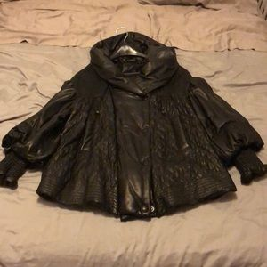 Pasha Veneto elegant oversized leather jacket